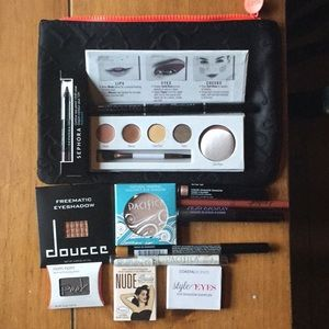 Brand new eye care products and makeup case